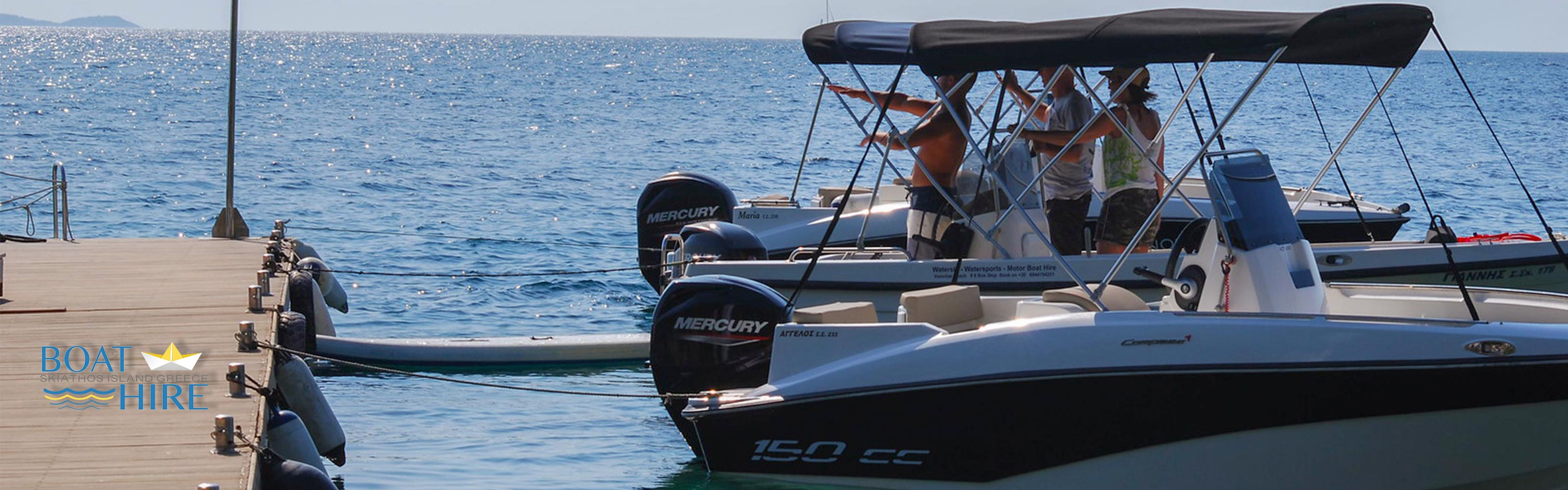 boat hire in Skiathos